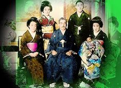 TOKUGAWA famely, with Satona and Motoko ( topp right and sitting right side)