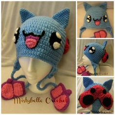 Catbug crochet hat