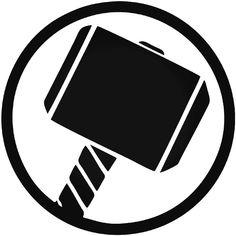 inspiration thor s hammer avengers logo decal etsy 2012 rh pinterest com thor logo black and white Thor Racing Symbol