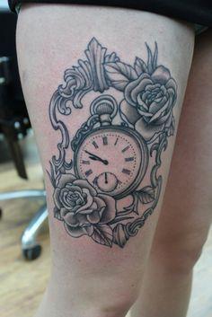 vine leg tattoos | tattoo # roses tattoo # rose tattoo # alchemy tattoo