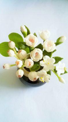 Miniature Polymer Clay Flowers Supplies for by Mycraftgarden, $8.90 https://www.facebook.com/PolymerClayWorld https://www.facebook.com/MiniHandmadeWOW https://www.facebook.com/MycraftsGarden https://www.facebook.com/1DollarCraft