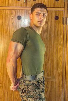 Sexy and handsome guys at here . Hot Army Men, Sexy Military Men, Hot Men, Beautiful Men Faces, Gorgeous Men, Hot Cops, Hunks Men, Men In Uniform, Muscular Men