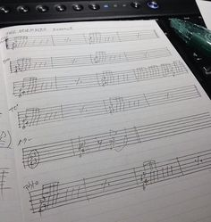 I fell asleep while writing it and I just woke up. ヽ(ー_ー )ノ#music #musicnotes #musicsheet #thenovembers #6hoursofsleep #sheetmusic #scales #melody #clef #staff  #majorscale #notehead #stem #flag #beginner by thenamesn