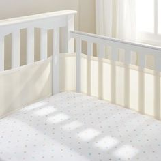 BreathableBaby(R) Classic Breathable(R) Mesh Crib Liner - Ecru