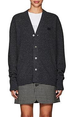 Acne Studios Neve Emoji Wool Cardigan - Sweaters - 505245580