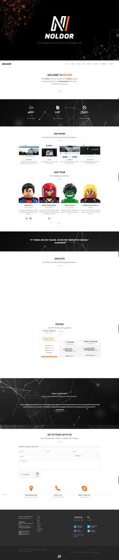 Noldor Technologies, Website Desktop Screenshot, Technology, Website, Tech, Tecnologia