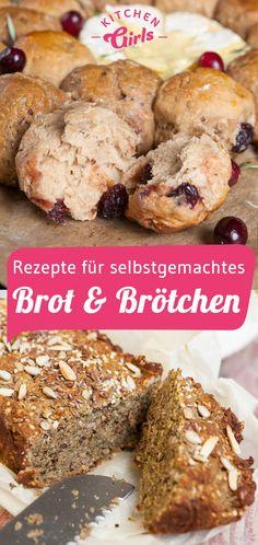 Brunch: Rezepte für Brot & Brötchen Breakfast And Brunch, Sweet Recipes, Banana Bread, Snacks, Meat, Chicken, Desserts, Food, Medium