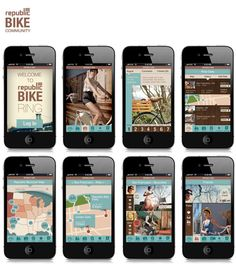 Republic Bike - Retail Store by Natalya Yampolsky, via #Behance #Mobile #UI