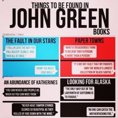 the beautiful and odd things to be found in a John Green book