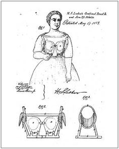 1st Bra, 1859, invented by Henry S. Lesher.