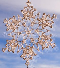 Kings Crown Snowflake free crochet pattern - Free Crochet Snowflake Patterns - The Lavender Chair