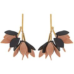 Marni Flower-drop leather earrings (795 AUD) ❤ liked on Polyvore featuring jewelry, earrings, accessories, floral earrings, floral jewelry, blossom jewelry, marni earrings and mirrored jewelry