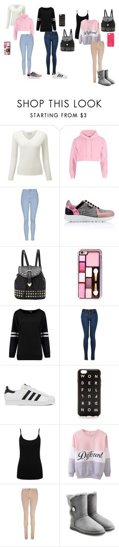 """OOTW: Sunday-Tuesday part 1"" by young-zendaya05 on Polyvore featuring Topshop, Karl Lagerfeld, adidas, J.Crew, M&Co, dVb Victoria Beckham, UGG Australia, BaubleBar, women's clothing and women"