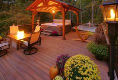 28 Hot Tub + Pergola Designs To Transform Your Backyard Pergola Attached To House, Deck With Pergola, Backyard Pergola, Pergola Plans, Pergola Ideas, Wooden Pergola, Pergola Shade, Pergola Kits, Cheap Pergola