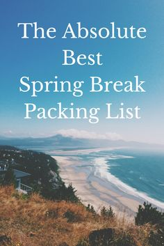 Your Spring Break packing list problems are solved with this list of the essential fashion items you want to pack this SB!