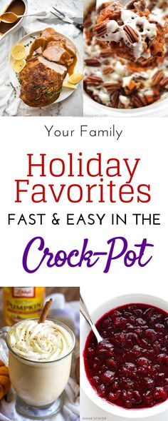 All Your Favorite Thanksgiving Recipes All in Your Slow Cooker to Save Space in the Oven Slow Cooker Recipes, Crockpot Recipes, Thanksgiving Recipes Crockpot, Traditional Thanksgiving Recipes, Thanksgiving Sides, Side Recipes, Whole Food Recipes, Yummy Recipes, Recipies