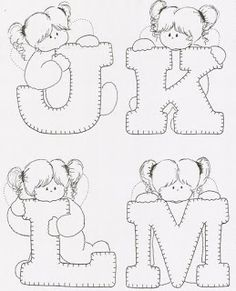 Valentine Coloring Pages, Alphabet Coloring Pages, Cute Coloring Pages, Printable Coloring Pages, Boys Quilt Patterns, Alpha Patterns, Sewing Letters, Embroidery Stitches, Embroidery Patterns
