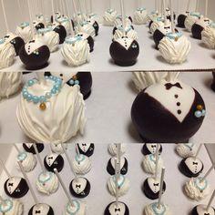 Bridal shower cake pops -mr. & mrs.