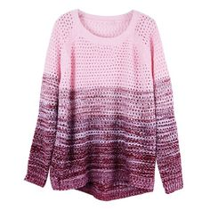 ZLYC Women's Gradient Color Stripe Loose Pullover Knit Sweater (Red) ZLYC http://www.amazon.com/dp/B00IJ2L2HG/ref=cm_sw_r_pi_dp_PNHbub11B5WSZ