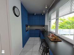 Niebieska kuchnia - zdjęcie od Maszroom: Karolina Pogorzelska - Kuchnia - Styl Nowoczesny - Maszroom: Karolina Pogorzelska