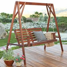 Charmant Wood Porch Swing Stand $159.98 | Books Worth Reading | Pinterest | Porch  Swings, Swings And Porch