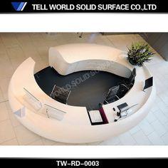 2013 new design hot sale small round reception desk