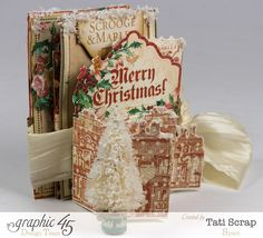 This pull-out album by Tati Scrap is Christmas perfection! Come and enjoy! #graphic45