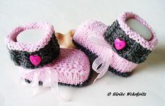 Babyschuhe gestrickt von strickliene auf DaWanda.com