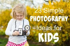 Easy and Fun Photography Tips - Easy and Fun Photography Tips 23 Photography Ideas for Kids – practical and easy ideas to get kids enjoying photography and learning Preschool Photography, Photography Lessons, Photography Projects, Digital Photography, Children Photography, Amazing Photography, Photography Hashtags, Learn Photography, Photography Backdrops