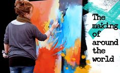 A new abstract painting - live painting demonstration by zAcheR-fineT - ...
