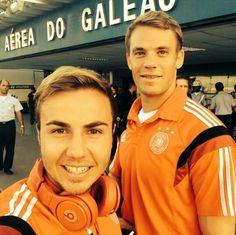 Mario Gotze & Neuer