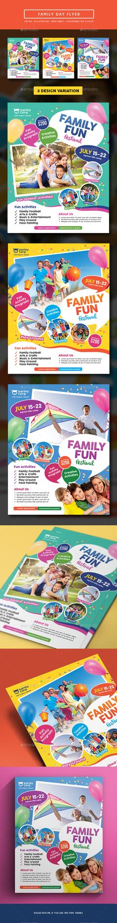 Buy Family Day Flyer by arifpoernomo on GraphicRiver. This Family Day Flyer Template, can be used for promote your Family Fun Day event, etc. Very easy to edit text, color.