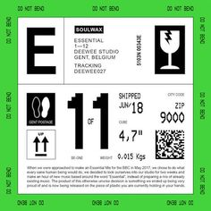 Soulwax are set to release a new album called Essential. Comprised of 12 original tracks, the LP features music from the Belgian band's BBC Radio 1 Essential Mix. Web Design, Label Design, Layout Design, Packaging Design, Design Art, Branding Design, Logo Design, Graphic Design Posters, Graphic Design Inspiration