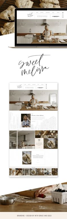 This web design and pic color scheme for a cooking and kitchen website Layout Design, Website Design Layout, Blog Design, Website Design Inspiration, Beautiful Website Design, Modern Web Design, Web Design Trends, Graphic Design, Design Websites