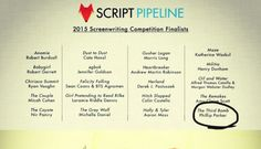 2015 Script Pipeline Finalists Announced