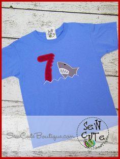 9c6c2479 Custom Shark Birthday Shirt with FREE by ThatsSewCute on Etsy, $25.00  Custom Birthday Shirts,