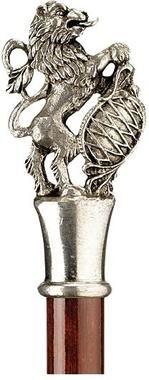 Heraldic Lion Pewter Walking Stick