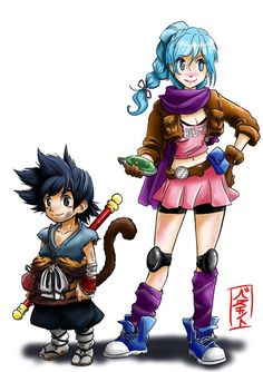 Goku+and+Bulma+redesign+by+Gurinchis.deviantart.com+on+@DeviantArt