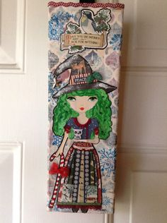 Christmas Witch Mixed Media