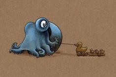 """""""Toddler Octopus"""" by Meg Lyman"""