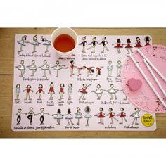 Ballet design kids place mat
