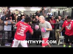 (WOW!) MANNY PACQUIAO DISPLAYS BLAZING SPEED & EXPLOSIVE POWER ON MITTS AHEAD OF THIRD BRADLEY CLASH - YouTube