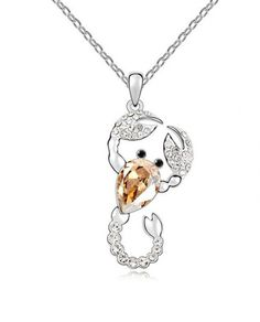 Necklace Type:Princess Material: Swarovski Element Crystal, Platinum Plated Zinc Alloy Length:40cm – 45cm Pendant Size:5.0cm x 2.1cm Weight: 12.2g Theme: Nature  Carrier: E-Packet Estimated Delivery Time:12-20days