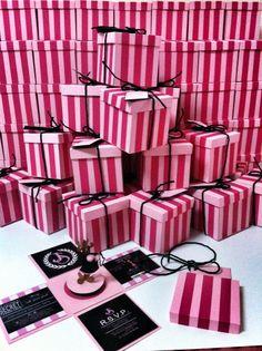 Victoria's Secret corsets. Invitation Boxes!