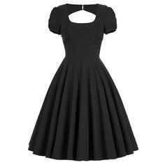 Backless Mini Pin Up Dress - Black