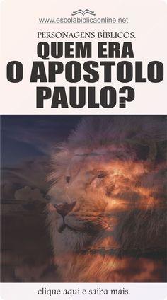 Quem era o apóstolo Paulo? Idee di Tendenza Dessin Creative e Pregai o Evangelho ? Bibel Journal, Lion Of Judah, Jesus Cristo, Pray, Bible, Words, Psalms, Poems, Life