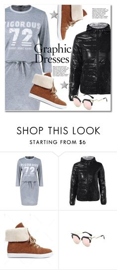 """Graphic Dresses"" by svijetlana ❤ liked on Polyvore featuring grey, polyvoreeditorial, GraphicDress and twinkledeals"