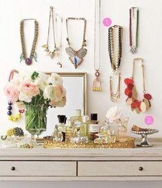 Vanity table #vanitytable #beauty #organization #decor
