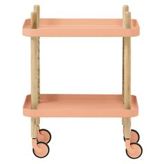normann copenhagen rolling side table in peach