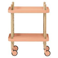 normann copenhagen rolling side table in peach